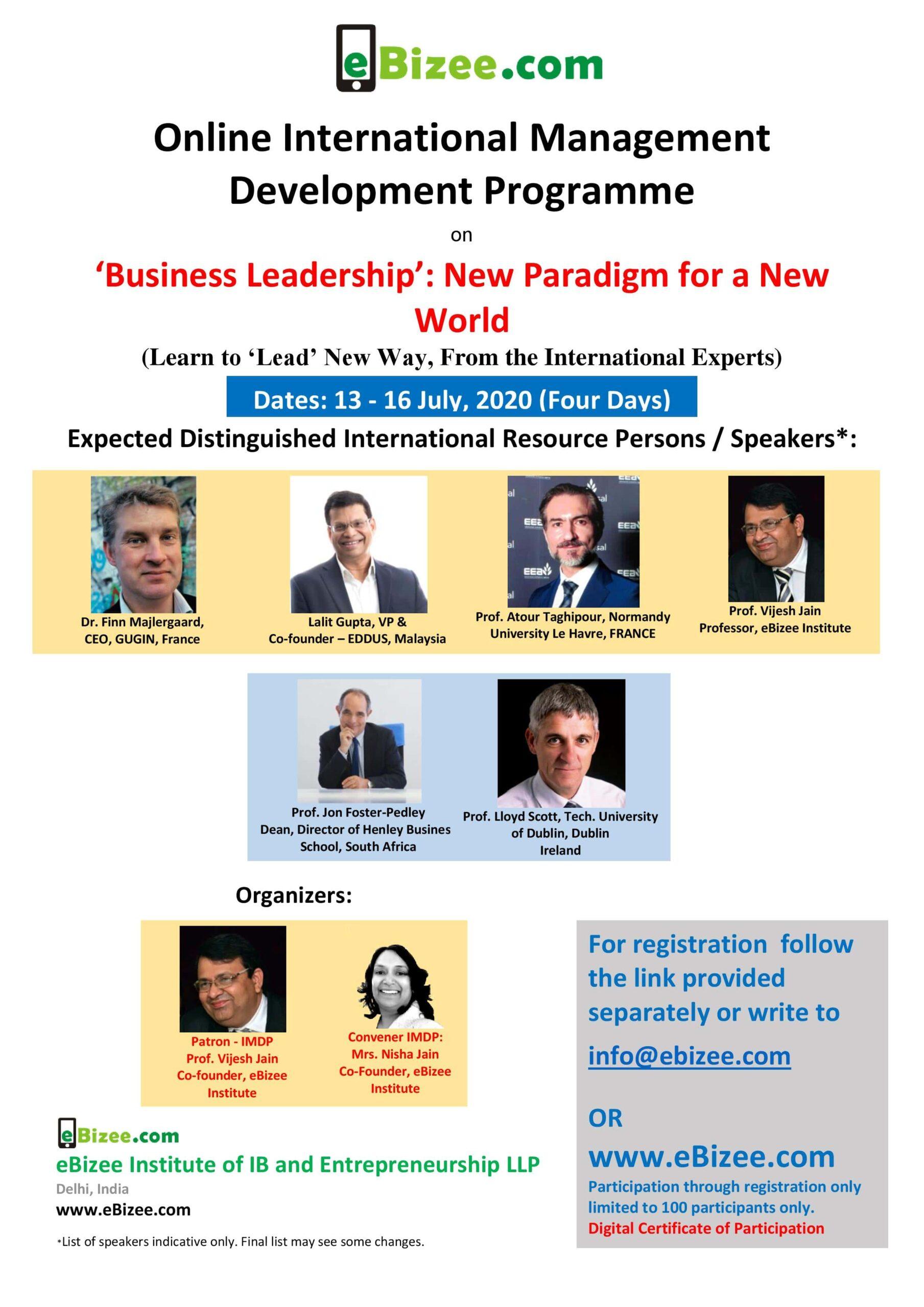4 days IMDP on business leadership